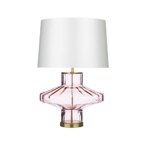 Vienna Table Lamp Pink Glass Base Only VIE4303 (7-10 day Delivery)